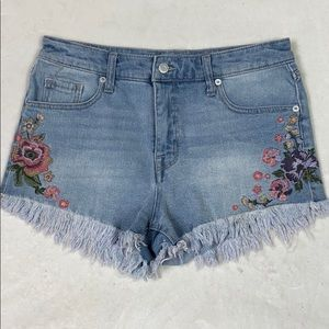 🔥3/$20 MOSSIMO Embroidered Jean Shorts